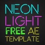 Neon Light Free After Effects Template